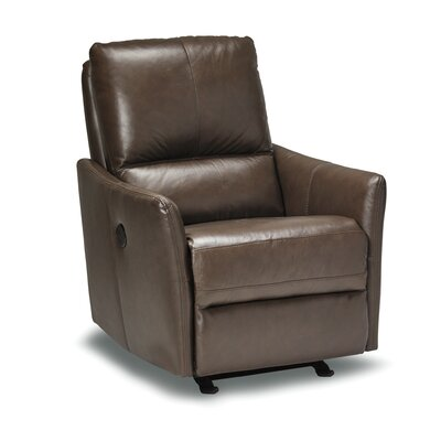 Yana Leather Recliner Upholstery: Espresso