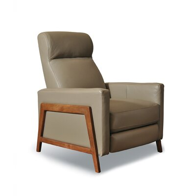 Kenny Leather Manual Recliner Finish: Palermo Slate
