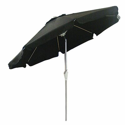 8.5 Beach Umbrella Fabric: Black