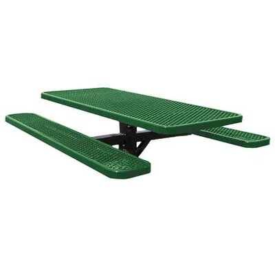 Picnic Table Finish: Blue, Table Size: 72 W