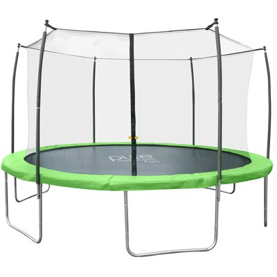 Dura-Bounce Round Trampoline with Safety Enclosure Size: 14' W 9314TS