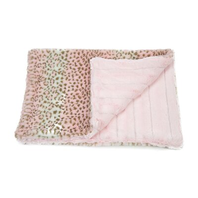 Clemson Cuddle Mat Size: Large - 39 L x 30 W, Color: Pink Cheetah/Pink Chinchilla