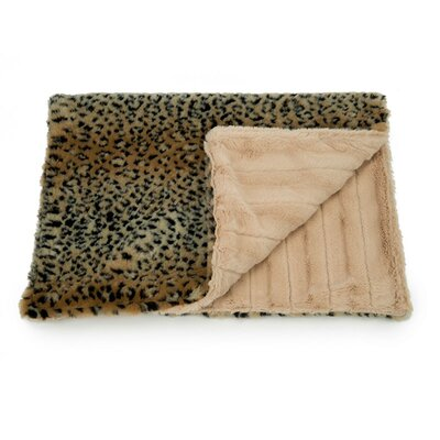 Cuddle Mat Size: Medium - 32 L x 26 W, Color: Tan Cheetah/Camel Chinchilla