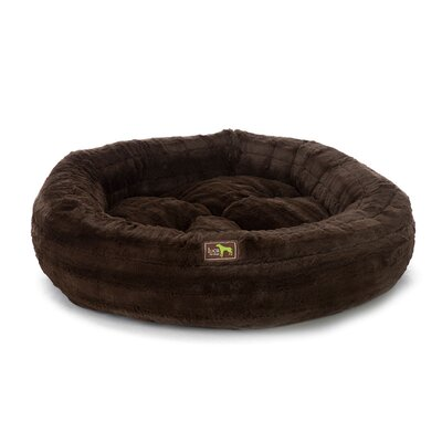 Nest Bolster Color: Chinchilla Chocolate, Size: Large - 40 L x 40 W