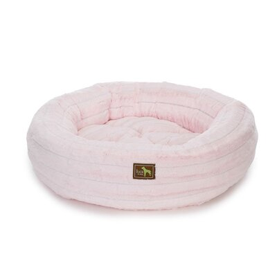 Nest Bolster Size: Extra Small - 20 L x 20 W, Color: Chinchilla Baby Pink