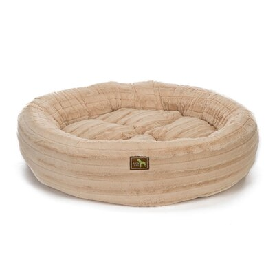 Nest Bolster Size: Medium - 34 L x 34 W, Color: Chinchilla Camel