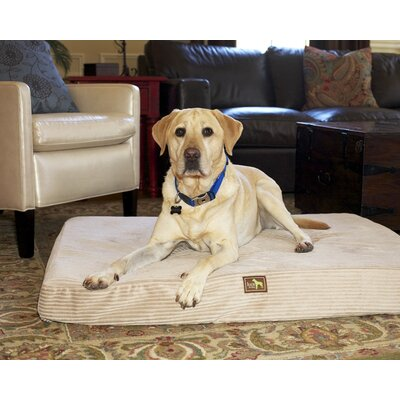 Easy Wash Orthopedic Bed Pillow Size: Large - 44 L x 34 W, Color: Cream Plush Corduroy