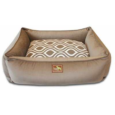 Lounge Bed Bolster Size: Medium - 34 L x 26 W, Color: Camel-Flicker Indigo
