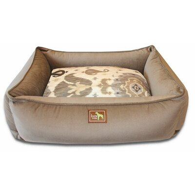 Lounge Bed Bolster Size: Large - 44 L x 34 W, Color: Camel/Heirloom Camel Velvet