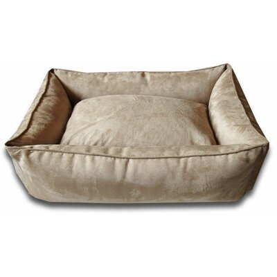 Easy-Wash Cover Lounge Donut Dog Bed Size: Medium (36 L x 28 W), Color: Camel