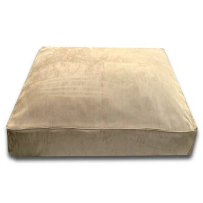 Doyle Rectangle Dog Pillow with Easy-Wash Cover Size: Medium (36 L x 28 W), Color: Camel