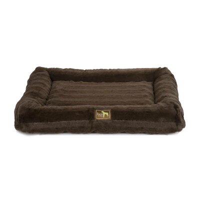 Crate Cuddler Bolster Size: 3 H x 12 W x 8 D, Color: Brown