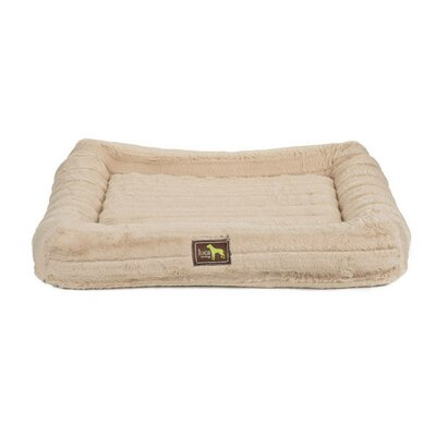 Crate Cuddler Bolster Size: 4 H x 36 W x 24 D, Color: Taupe