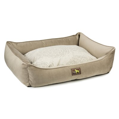 Lounge Bolster with Easy Wash Cover Size: 5 H x 23 W x 18 D, Color: Taupe