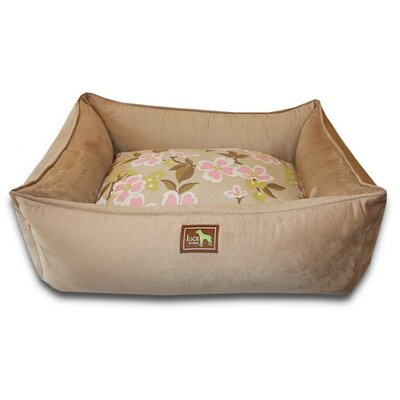 Meadow Easy-Wash Cover Lounge Donut Dog Bed Size: Large (44 L x 34 W), Color: Camel
