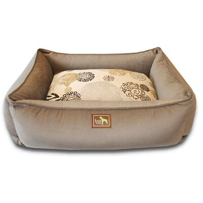 Zen Easy-Wash Cover Lounge Donut Dog Bed Size: Large (44 L x 34 W), Color: Coco