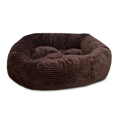 Nest Easy-Wash Cover Donut Dog Bed Color: Chocolate, Size: Extra Small (20 L x 20 W)