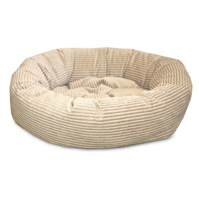 Nest Easy-Wash Cover Donut Dog Bed Color: Cream, Size: Medium (34 L x 34 W)