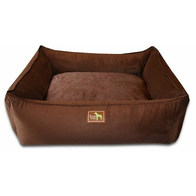 Easy-Wash Cover Lounge Donut Dog Bed Size: Small (26 L x 20 W), Color: Chocolate