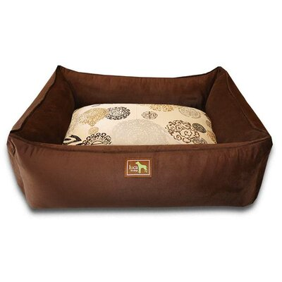 Zen Easy-Wash Cover Lounge Donut Dog Bed Size: Large (44 L x 34 W), Color: Chocolate