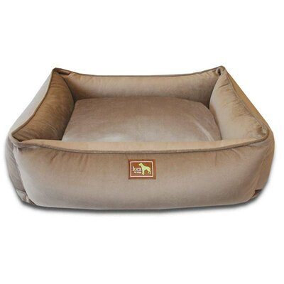 Easy-Wash Cover Lounge Donut Dog Bed Color: Coco, Size: Large (44 L x 34 W)
