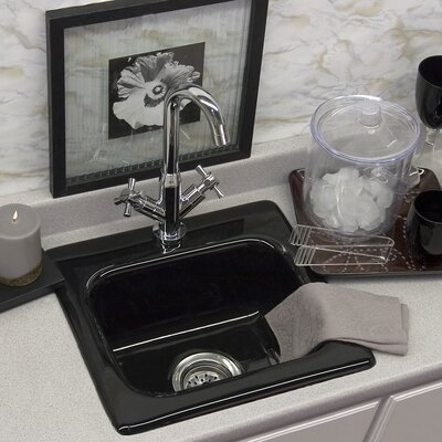 CorStone Advantage Berkeley Rectangular Self Rimming Bar Prep Sink - Finish: Biscuit, Faucet Drillings: Single Hole