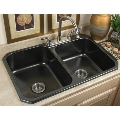 Advantage Pocasset 60/40 Double Bowl Undermount or Self Rimming Kitchen Sink