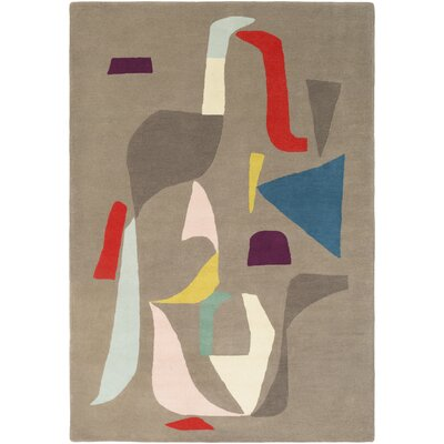 Estella Hand-Tufted Neutral/Gray Area Rug Rug Size: Rectangle 2 x 3
