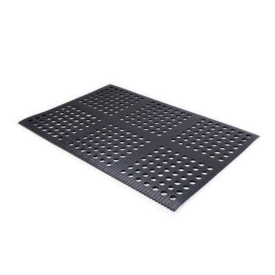 Pro-Lite Drain Doormat Color: Black, Rug Size: 3 x 3