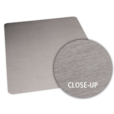 "ES ROBBINS Brushed Stainless Design Chair Mat - Size: 36"" x 48"" Rectangular, Straight .110, Hard Floor at Sears.com"