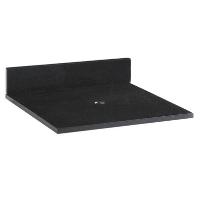 "Xylem Blox Bath Vanity Top Stone in Black - Width: 20"" at Sears.com"