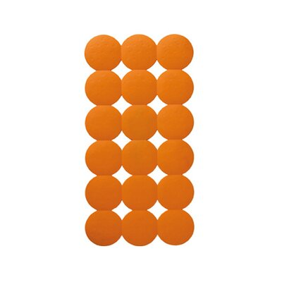 Giotto Rectangular Shower Mat Color: Orange