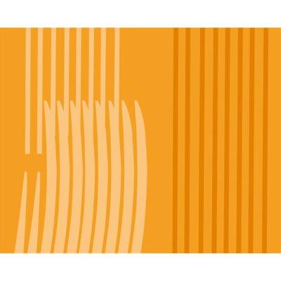 Monocromo Shower Curtain Color: Orange