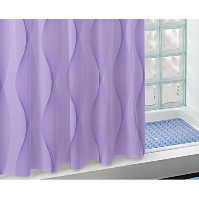 Electra PVC Shower Curtain Color: Lilac
