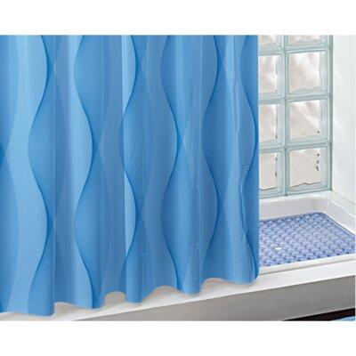 Electra PVC Shower Curtain Color: Blue