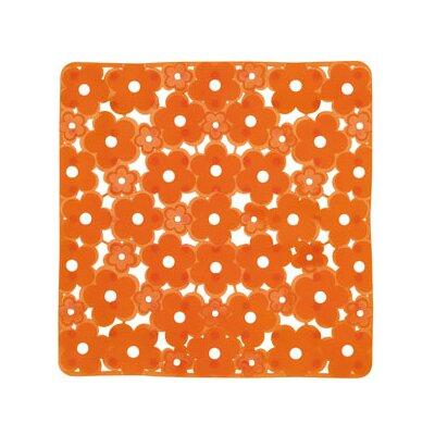 Margherita Shower Mat Color: Orange