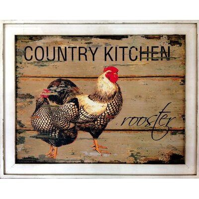 Handsome Rooster Wall Plaque
