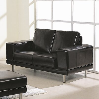 Concorde BL Loveseat BVF1025 Hokku Designs Concorde Bycast Leather Loveseat