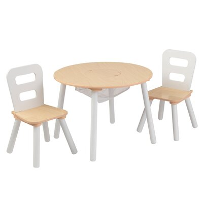 KidKraft Kid's 3 Piece Round Table and Chair Set 27027