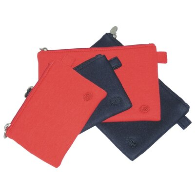 Amy Butler Lea Techno Pouches in Tomato - Size: Large