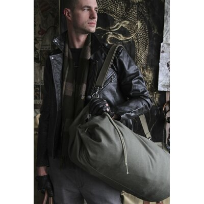 Parson Gray Cavalry Duffel Bag Color: Olive, Size: Small