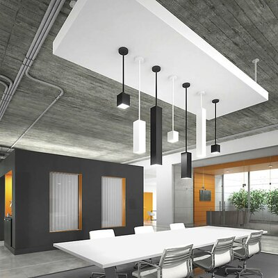 Pepin LED Mini Pendant Finish: White, Shade Color: Matte Black