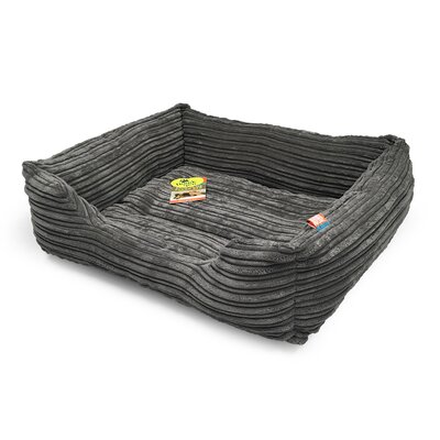 Plush Corduroy Cuddler Dog Bolster Size: 20 L x 17 W, Color: Cool Charcoal