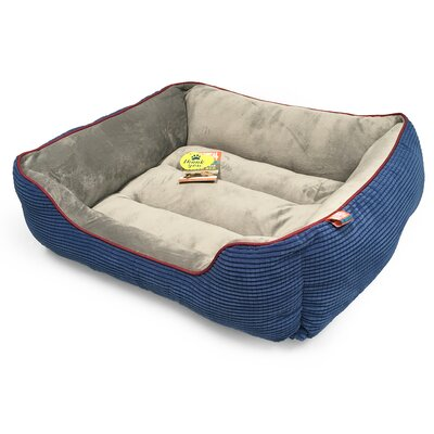 Plush Boxed Cuddler Dog Bolster Color: Navy, Size: 26 L x 22 W
