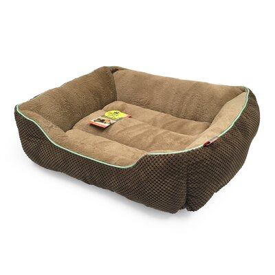 Dog Bolster Size: 26 L x 22 W, Color: Brown