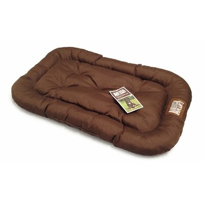 Water Resistant Crate Dog Mat Color: Brown, Size: 40 L x 26 W