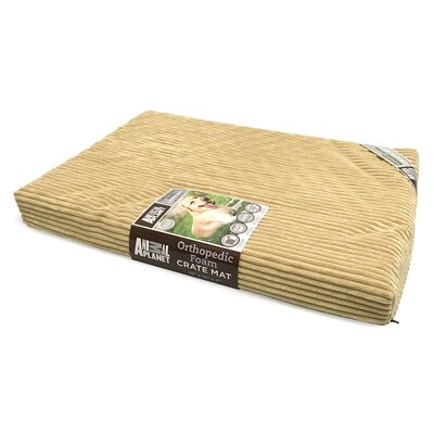 Orthopedic Dog Bed Size: 40 L x 26 W, Color: Taupe