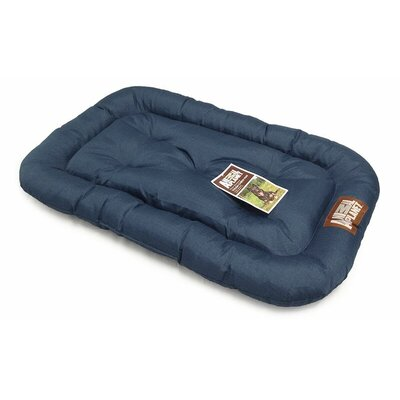 Water Resistant Crate Dog Mat Size: 40 L x 26 W, Color: Navy