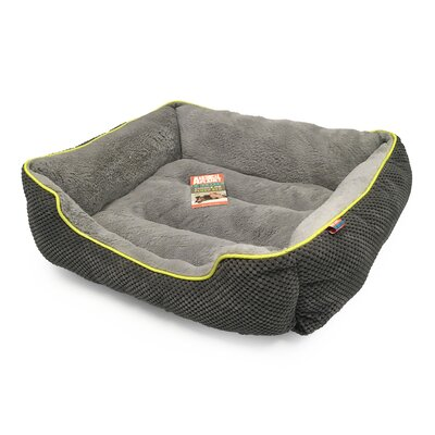 Dog Bolster Size: 26 L x 22 W, Color: Cool Charcoal
