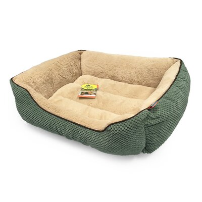 Dog Bolster Size: 26 L x 22 W, Color: Bayleaf